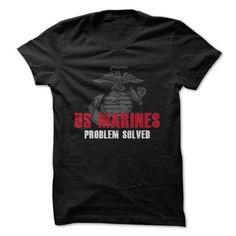 US Marines - Problem Solved - #v neck tee #tshirt kids. TAKE IT => https://www.sunfrog.com/Jobs/US-Marines--Problem-Solved.html?68278