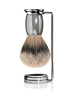 The Art of Shaving Engraved Nickel Silvertip Brush Men - Shop All - Bloomingdale's Shaving Stand, Shaving Brush, Gifts For Hubby, The Art Of Shaving, Its A Mans World, Straight Razor, Men's Grooming, Perfume Bottles