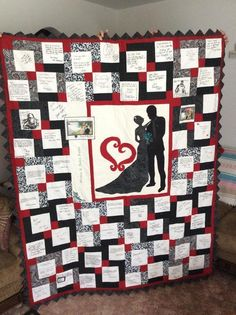 another idea for wedding quilt | quilting | Pinterest | Wedding ... : wedding quilt block pattern - Adamdwight.com