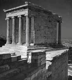 Herbert List  GREECE. Athens. The Acropolis. Temple of Nikae. 1937.