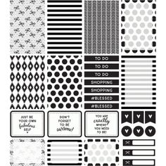 black and white planner - Google Search