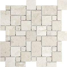 Honed Berkshire Crema Mini Versailles Mosaics