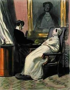 Pregnant woman with her mother Painting by Paul Gavarni Reproduction Mother Painting, Most Famous Paintings, Oil Painting Reproductions, Illustration, Art Gallery, Woman, Satire, Pregnancy, Artists