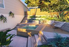 Wood and concrete retaining wall renovation - In hillside and uneven yards, retaining walls help retain soil and rock to create even surfaces and - Rock Retaining Wall, Concrete Retaining Walls, Landscaping Retaining Walls, Front Yard Landscaping, Steep Hill Landscaping, Landscaping Tips, Online Landscape Design, Garden Landscape Design, Steep Backyard
