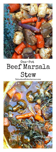 One-pot Beef Marsala Stew @reluctantentertainer