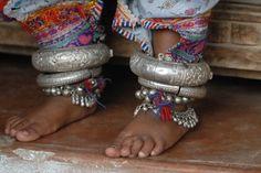 *Details of anklets worn by Rabari, Gujarat - Katchch, India.