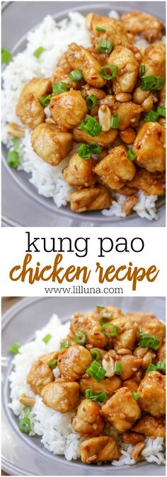 Kung Pao Chicken - The homemade kung pao sauce is SUPER tasty. Add chicken and some nuts for crunch, top over warm rice and you have an excellent Chicken dish!