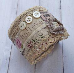 Unique Handmade Textile Cuff £16.00