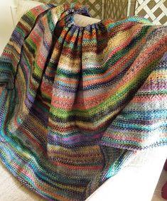Ravelry: KnitterGal's scrappy blanket
