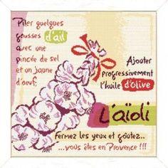 L'aïoli - Lilipoints Kit, Le Point, Cross Stitching, Alphabet, Creations, Bullet Journal, Provence, Google, Monogram Tote