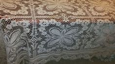 Vintage-maltese-bobbin-lace-tablecloth-or-bed-cover-never-used-94-88