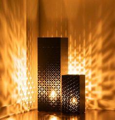 Viesso Modern Lighting-lyt Lantern by Jeff Miller-Cool Pillar Style Lantern Cool Lighting, Modern Lighting, Lighting Design, Patio Lighting, Interior Lighting, Modern Lanterns, Mood Lamps, Moroccan Lamp, Deco Addict
