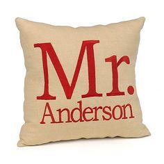 Linen Throw Pillow - Mr.