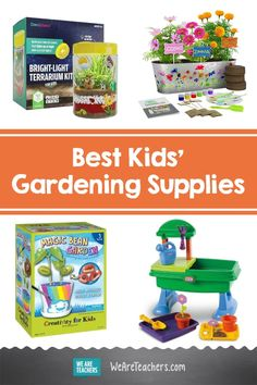 19 Awesome Tools and Supplies to Encourage Young Gardeners. Working in the garden is a great opportunity for some outdoor learning. We rounded up our favorite kids' gardening supplies for maximum planting fun. #gardening #younggardeners #science #STEM #teachinggardening #teacher #teaching #classroom Growing Marigolds, Bright Paint Colors, We Are Teachers, Bright Paintings, Outdoor Learning, Kits For Kids, Gardening Supplies, Science Lessons, Creative Kids