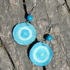 Boucles d'oreilles spirales en ficelle de chanvre Fibres, Drop Earrings, Jewelry, Spirals, Ears, Boucle D'oreille, Locs, Bijoux, Jewlery
