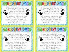 Miss Kindergarten Handprint Poem