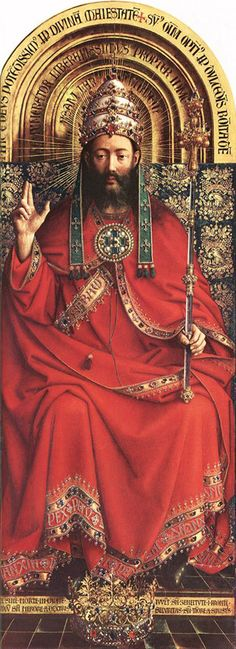 Christ the King, The Ghent Alterpiece by Jan Van Eyck.