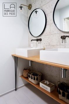 Bathroom Sink Cabinets, Bathroom Wall, Home Renovation, Architecture Renovation, Feature Tiles, House Tiles, My Dream Home, House Design, Shelves