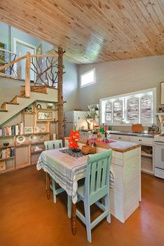 "Shed turned into a ""shedeau"" on houzz. I love the unique details, the stair case, the beams that can be climbed, the precious bathroom. I love it all!"