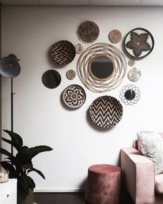 Room Rugs, Rugs In Living Room, Interior Inspiration, Room Inspiration, Blue Abstract Painting, Baskets On Wall, Frame Shop, New Room, Bohemian Decor