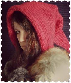 Bulky yarn Ravelry: Tunisian Fantasy Hood pattern by Regina Weiss Tunisian Crochet Patterns, Knitting Patterns, Knit Crochet, Crochet Hats, Cowl Patterns, Beginner Crochet Projects, Knitting Projects, Afghan Stitch, Hood Pattern