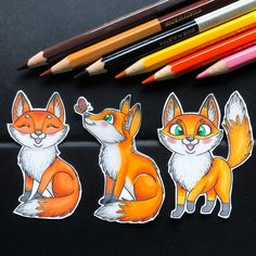 Hello guys, After a long time, I am happy to announce that I have finally made some new digistamps! I finally found the inspiration and the time to create something. So here i present to you some happy little foxes! Animal Coloring Pages, Colouring Pages, Happy Fox, Fox Drawing, Polychromos, Cute Fox, Digi Stamps, Color Card, My Stamp