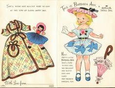 Joysweb: Vintage Thingies Thursday: Greetings from My Paper Dolls