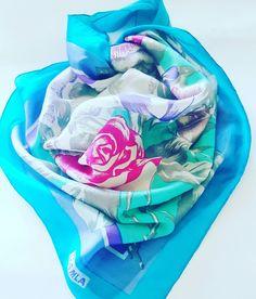 #vintage #fashion #silk #flowers #roses #damla #turkish #turkey #scarf # scarves #eşarp