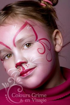 Super simple - outlines only - cat face (teen appropriate? Girl Face Painting, Face Painting Designs, Painting For Kids, Body Painting, Halloween Cat, Halloween Costumes For Kids, Halloween Makeup, The Face, Face And Body