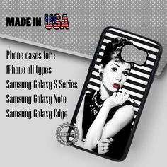 Samsung S7 Case -  Audrey Hepburn Tiffany's- iPhone Case #SamsungS7Case #adh #yn