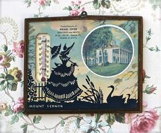 Vintage Silhouette Advertising Promo Thermometer Mount Vernon from ivorybird Advertising Pictures, Vintage Silhouette, Mount Vernon, Vintage Advertisements, Kitsch, See Photo, Silhouettes, Objects, Antiques
