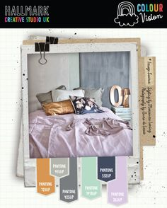 Color palette - gold, light gray, dark gray, mint green, navy, light purple, lavender