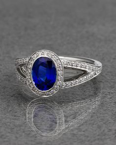 Ritani Platinum 1.98 cttw. Diamond & Sapphire Ring - explore the art deco collection http://www.ritani.com/engagement-rings/style/art-deco-engagement-rings