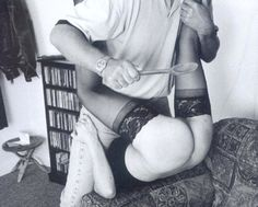 The correct use of the common wooden spoon. Never underestimate everyday household items during spanking sessions! ~LH~