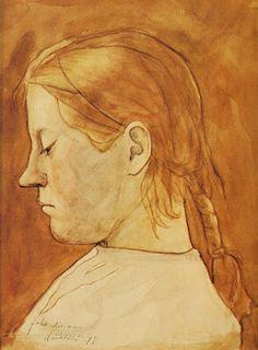JUHO RISSANEN  A Girl--Selma Savolainen (1897)