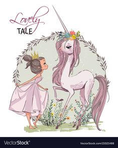 Buy Unicorn with Girl by cofeee on GraphicRiver. Cute cartoon unicorn with with girl and hare Unicorn Drawing, Cartoon Unicorn, Unicorn Art, Cute Unicorn, Cartoon Wallpaper, Artist Art, Cute Cartoon, Vector Art, Sketches