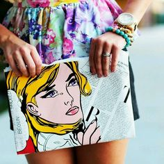 DIY Phillip Lim clutch by Evelina Barry via @YouTube.
