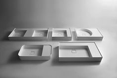 GRAFFIO Sinks - designed by Mario Ferrarini A family of five different sinks tha. - Home and Garden Decoration Modern Bathroom Sink, Bathroom Fixtures, Bathrooms, Plumbing Fixtures, Bathroom Ideas, Vanity Wash Basin, Bathroom Furniture Design, Paris Kitchen, Washbasin Design