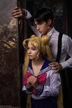 Serena and Darien, Sailor Moon cosplay + Sailor Moon Kostüm, Sailor Moon Y Darien, Sailor Moon Crystal, Cosplay Outfits, Cosplay Girls, Cosplay Costumes, Sailor Moon Cosplay, Amazing Cosplay, Best Cosplay