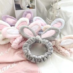 Korean Makeup Look, Asian Makeup, Makeup Hairband, Korea Makeup, Baby Accessoires, Rabbit Ears, Girls Fashion Clothes, Fashion Women, Ear Headbands