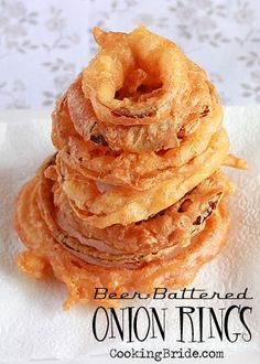 Beer Battered Onion Rings - CookingBride.com