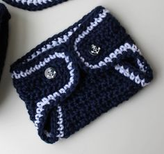 Ravelry: Lil Sailor Hat Bib and Diaper Cover pattern by Kris Moore