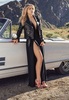 Chloe G Moretz, Chloë Grace Moretz, First Girl, Girl Cartoon, Outfit Of The Day, Fashion Beauty, Like4like, Leather Pants, Wrap Dress