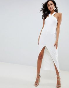 Browse online for the newest ASOS DESIGN strappy cape maxi dress styles. Shop easier with ASOS' multiple payments and return options (Ts&Cs apply). All White Party Dresses, White Maxi Dresses, Floral Maxi Dress, Ball Dresses, White Dress, Bride Dresses, Dress Skirt, Fishtail Maxi Dress, Asos