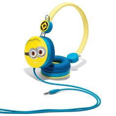 "Minions make music even more fun. Volume-limiting headphones are safe for children's ears. Fits all standard audio jacks. 6 1/2"" H x 5 1/2"" W; ear cups, 2 1/2"" diam. Ages 6 and up. Man-made materials. Imported.  Minions is a trademark and copyright of Universal Studios. Liscensed by Universal Studios Liscensing LLC. All rights reserved."