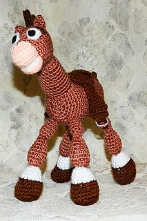 Look! This is Bullseye - Woody's Horse from the Toy Story! He is charming, good-natured, brave, selfless and dedicated horse.