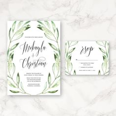 """This listing is for a PRINTABLE 5""""x7"""" invitation and a 5.5""""x4.25"""" RSVP card. You will receive a digital copy in the form of a PDF or JPEG to be"""
