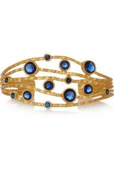 Gold-plated crystal cuff by Kevia