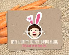 Easter Bunny Photo Card // Personalized Printable Craftpaper