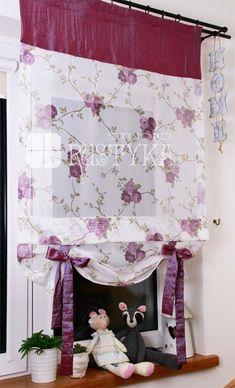 Mini roletka z woalu fiolet firany dla dla dzieci :: Rustyka.pl Valance Curtains, Shabby Chic, Tapestry, Shower, Prints, Home Decor, Home, Blinds, Manualidades